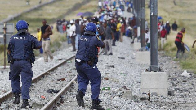 Bergarbeiterstreik Südafrika