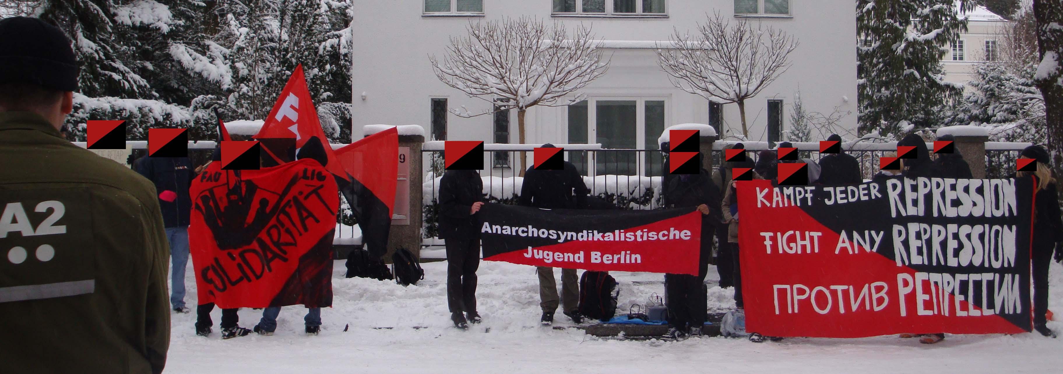 Kundgebung 31.12.2009_Vor der botschaft